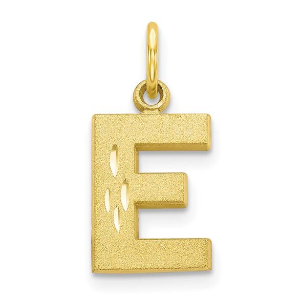 10k Yellow Gold Initial E Charm 10C768E