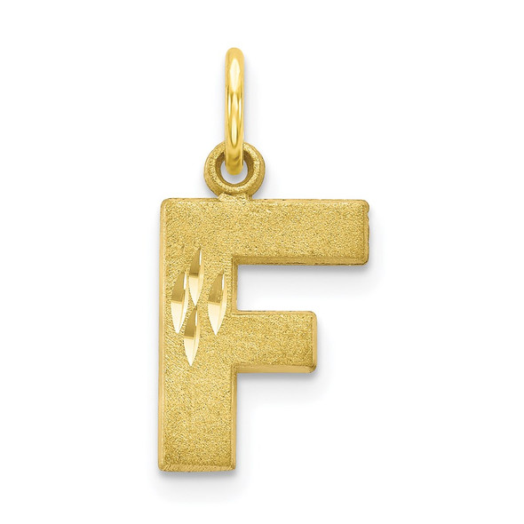 10k Yellow Gold Initial F Charm 10C768F