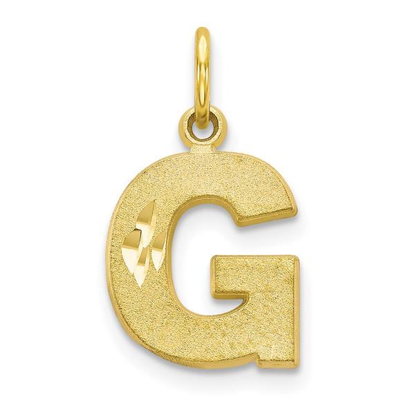 10k Yellow Gold Initial G Charm 10C768G