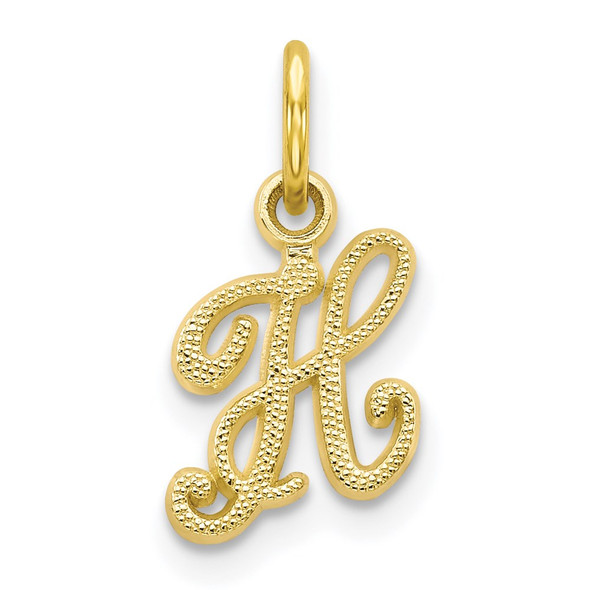 10k Yellow Gold Initial H Charm 10C763H