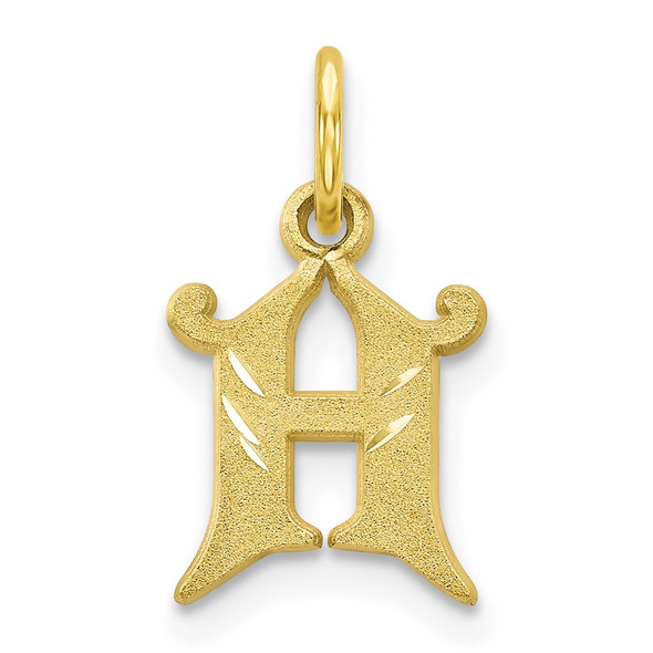 10k Yellow Gold Initial H Charm 10C764H