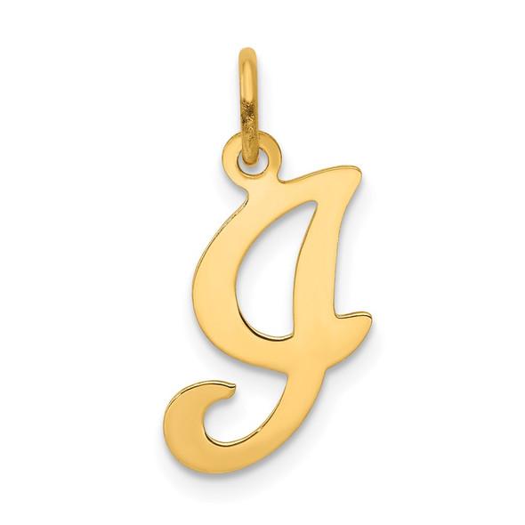 14k Yellow Gold Initial I Charm YC248I