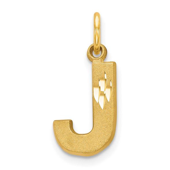 14k Yellow Gold Initial J Charm C566J