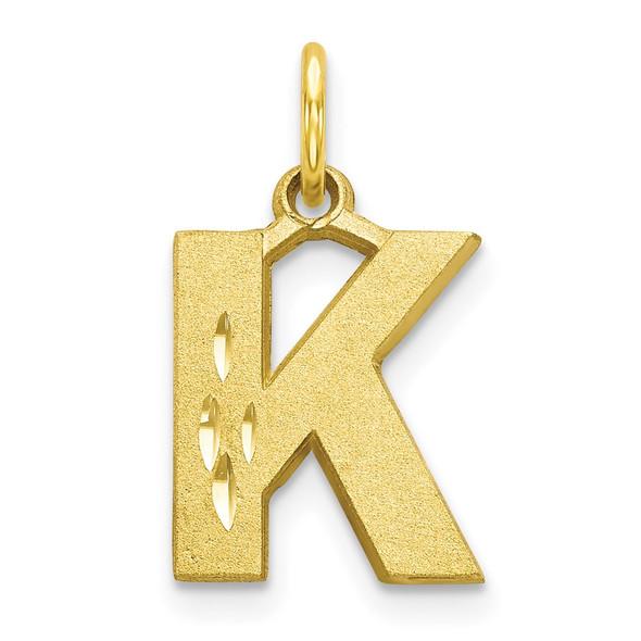 10k Yellow Gold Initial K Charm 10C768K