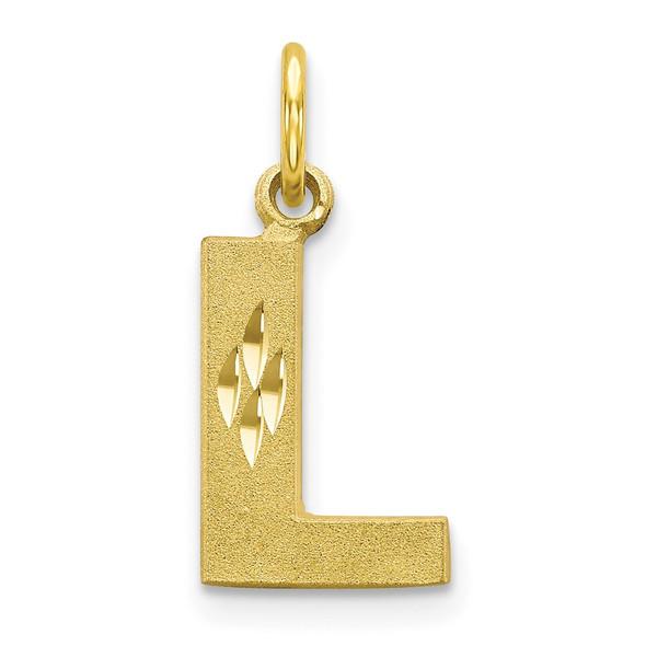 10k Yellow Gold Initial L Charm 10C768L