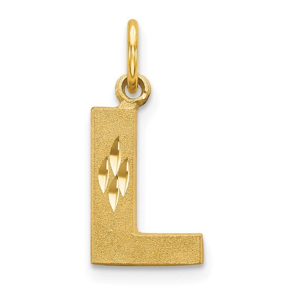 14k Yellow Gold Initial L Charm C566L