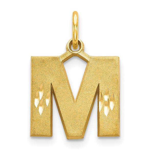 14k Yellow Gold Initial M Charm C566M