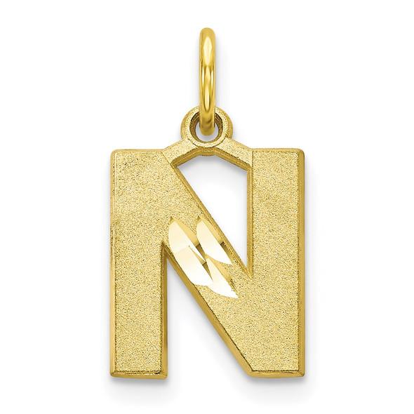 10k Yellow Gold Initial N Charm 10C768N