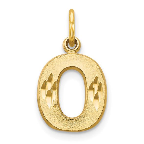 14k Yellow Gold Initial O Charm C566O