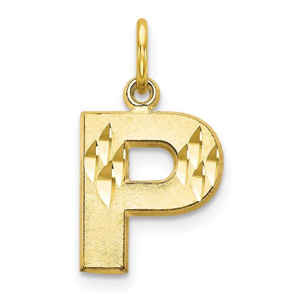 10k Yellow Gold Initial P Charm 10C768P