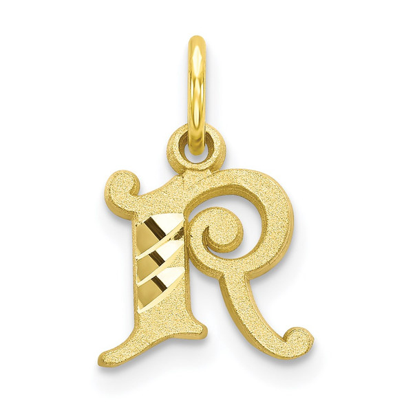 10k Yellow Gold Initial R Charm 10C764R