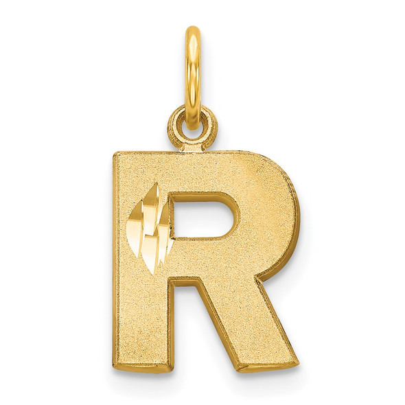 14k Yellow Gold Initial R Charm C566R