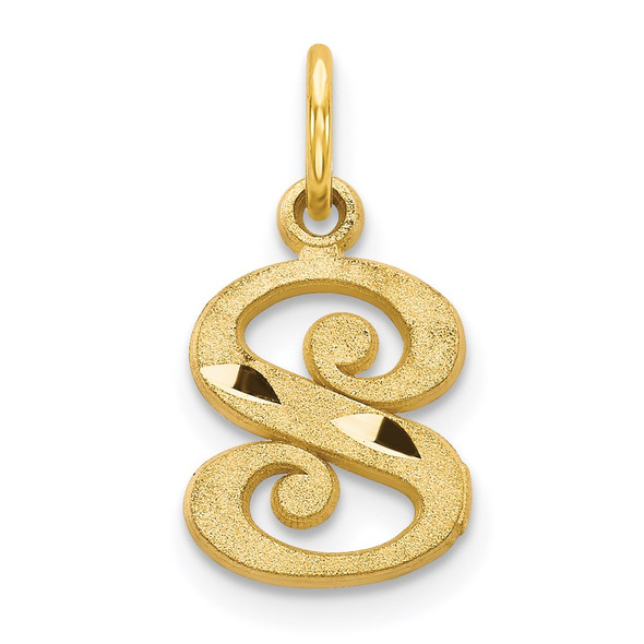 14k Yellow Gold Initial S Charm C565S
