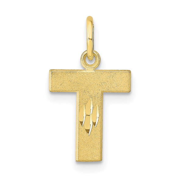 10k Yellow Gold Initial T Charm 10C768T