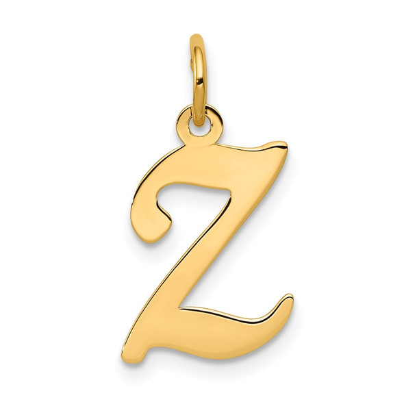 14k Yellow Gold Initial Z Charm