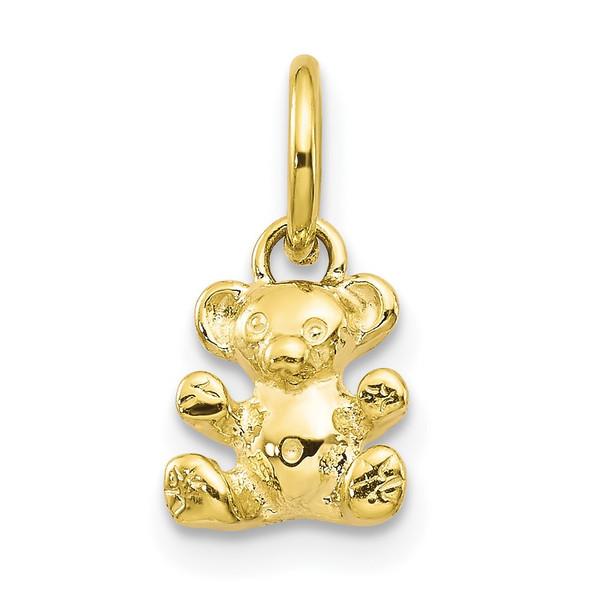 10k Yellow Gold 3D Teddy Bear Charm 10C658