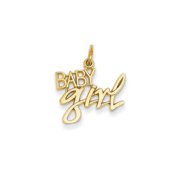 14k Yellow Gold Baby Girl Charm C1068