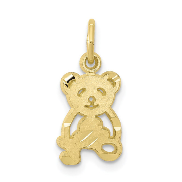 10k Yellow Gold Teddy Bear Charm 10C659