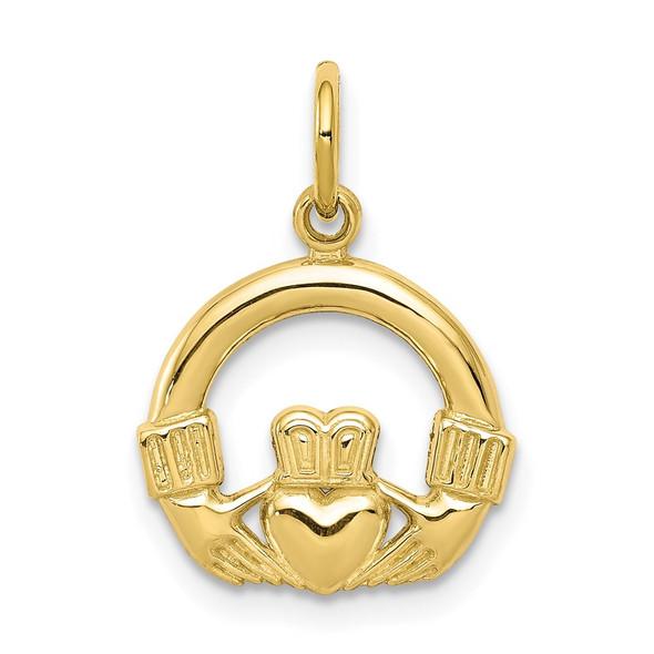 10k Yellow Gold Claddagh Charm