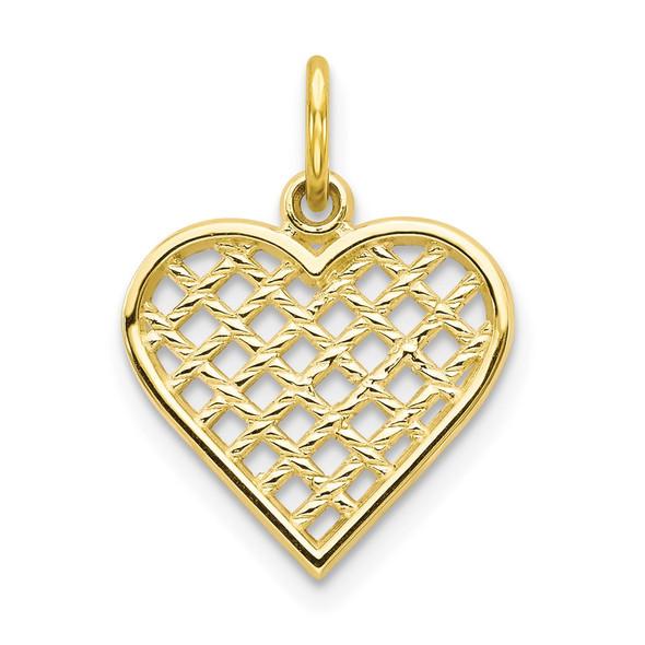 10k Yellow Gold Heart Charm 10C216