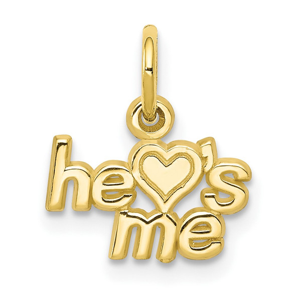 10k Yellow Gold He Loves Me Charm