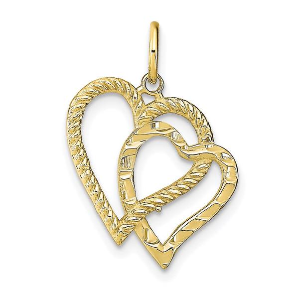 10k Yellow Gold Heart Charm 10C218