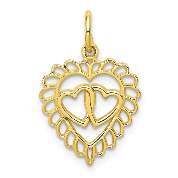 10k Yellow Gold Heart Charm 10C398