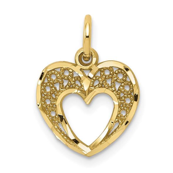 10k Yellow Gold Heart Charm 10C220