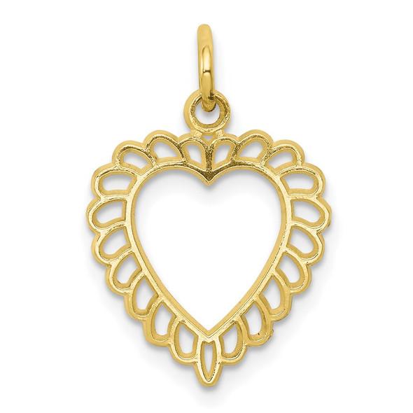 10k Yellow Gold Heart Charm 10C396