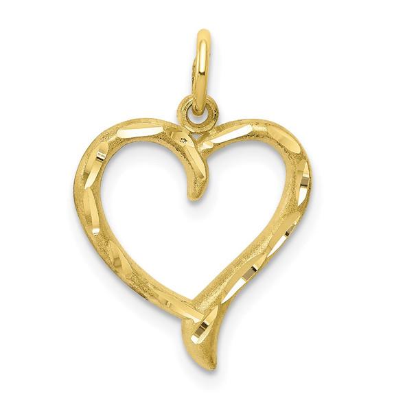 10k Yellow Gold Heart Charm 10C395