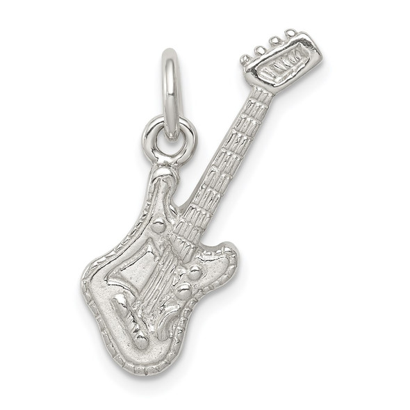 Sterling Silver Electric Guitar Charm QC787