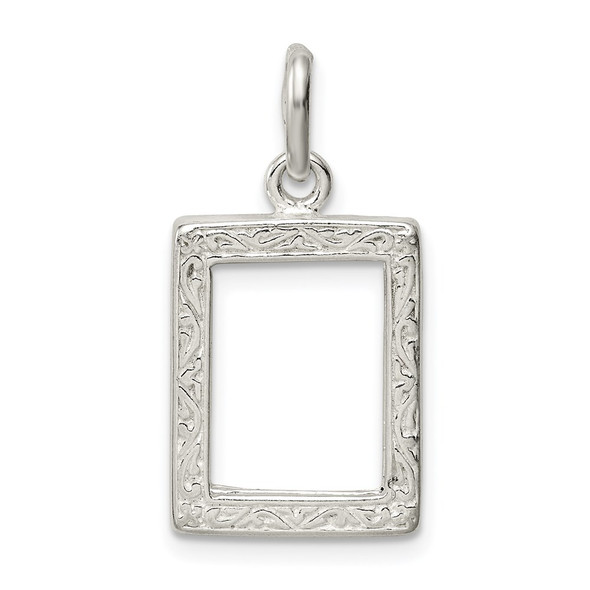 Sterling Silver Picture Frame Charm QC12