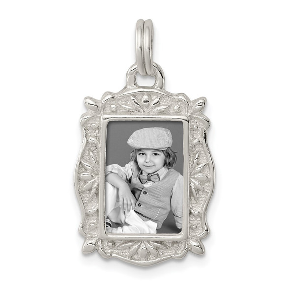 Sterling Silver Picture Frame Charm QC4620