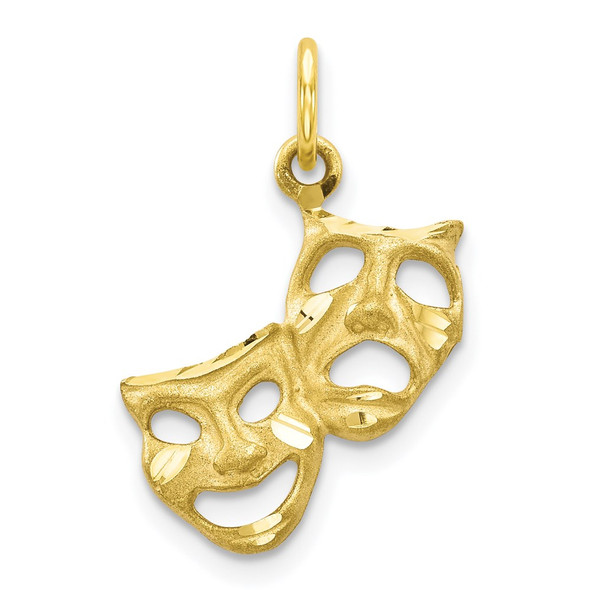 10k Yellow Gold Comedy/Tragedy Charm