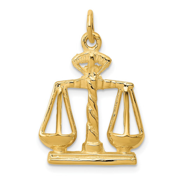 14k Yellow Gold Scales Of Justice Charm A1493
