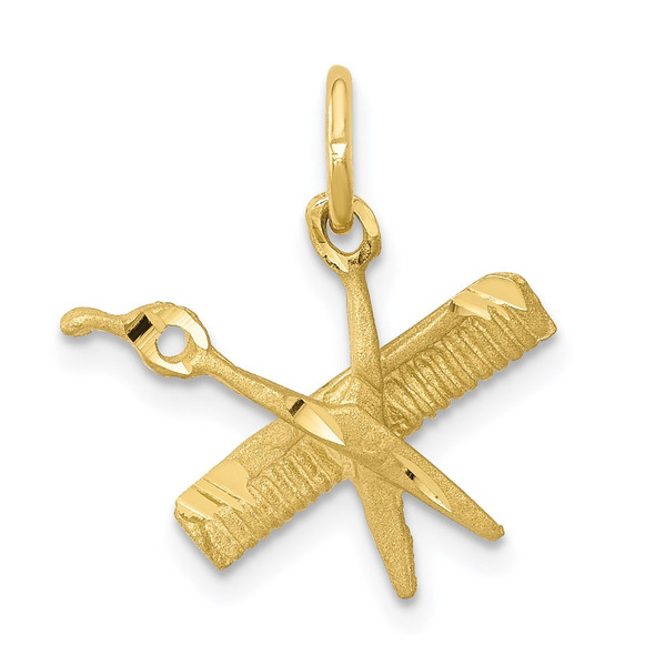 10k Yellow Gold Comb and Scissors Charm 10C760