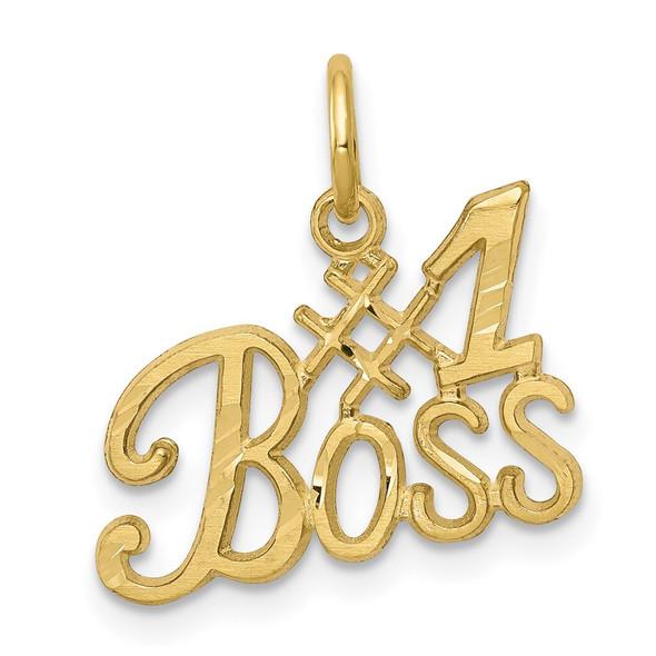 10k Yellow Gold #1 Boss Charm