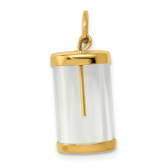 14k Yellow Gold Fillable Capsule Charm