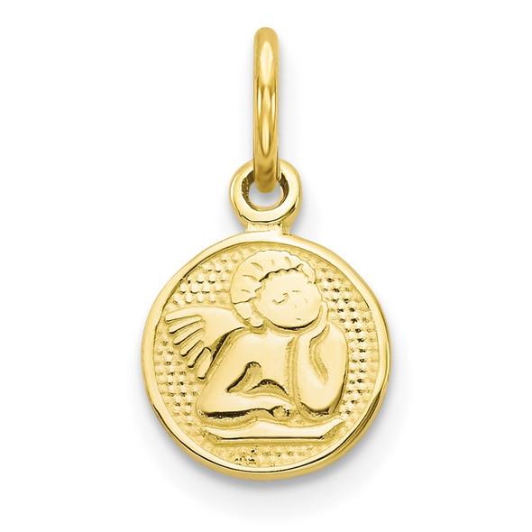 10k Yellow Gold Angel Charm 10C49