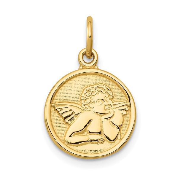 14k Yellow Gold Polished Angel Charm C1894