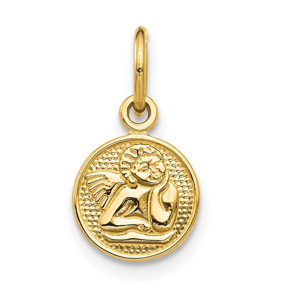 14k Yellow Gold Small Polished Angel Charm