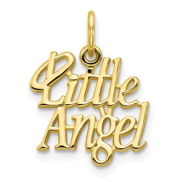 10k Yellow Gold Little Angel w/Halo Charm