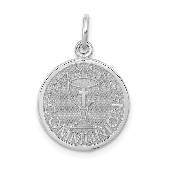14K White Gold Communion Charm