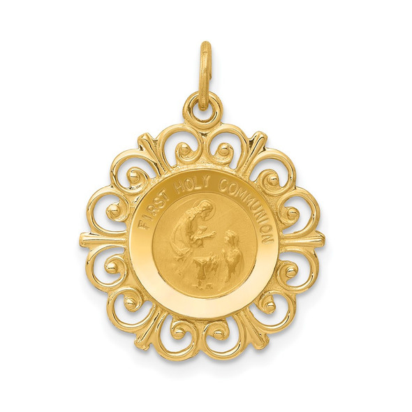 14k Yellow Gold First Holy Communion Charm XR369