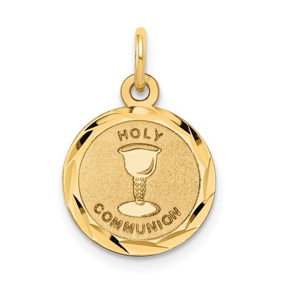 14k Yellow Gold Holy Communion Disc Charm XR367