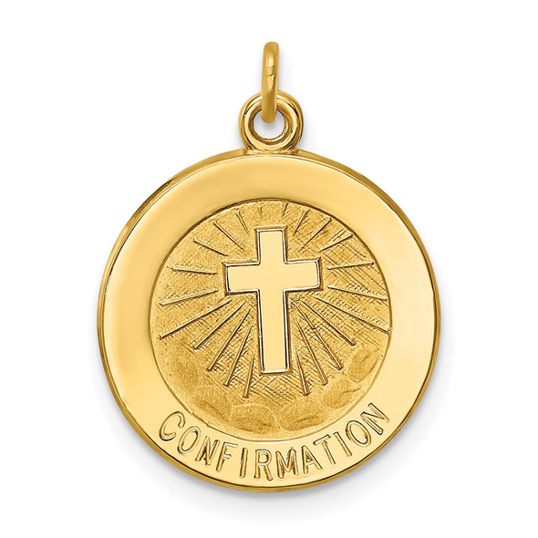 14k Yellow Gold Confirmation Medal Charm XR358