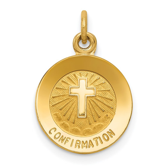 14k Yellow Gold Confirmation Charm XR357