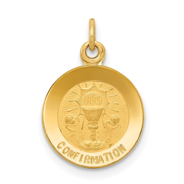 14k Yellow Gold Confirmation Charm XR355