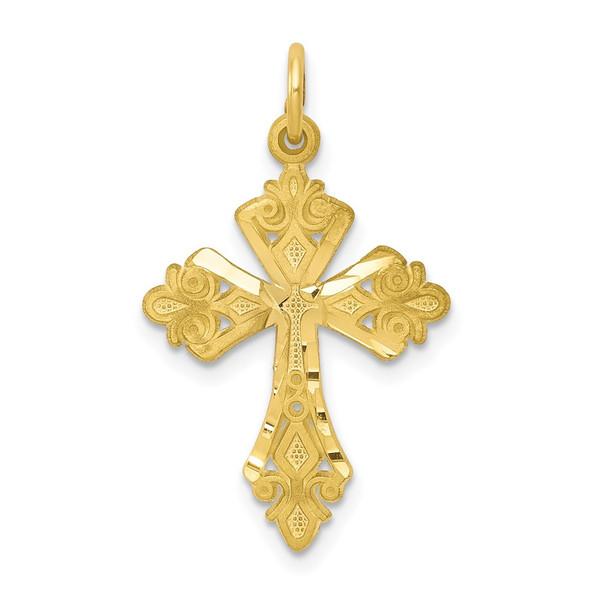 10k Yellow Gold Cross Charm 10C67