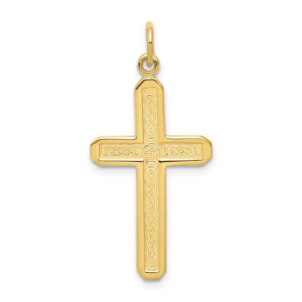 10k Yellow Gold Cross Charm 10C317